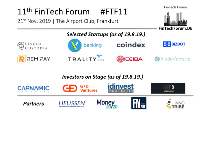 FinTech Forum | Since 2013 the leading European network for