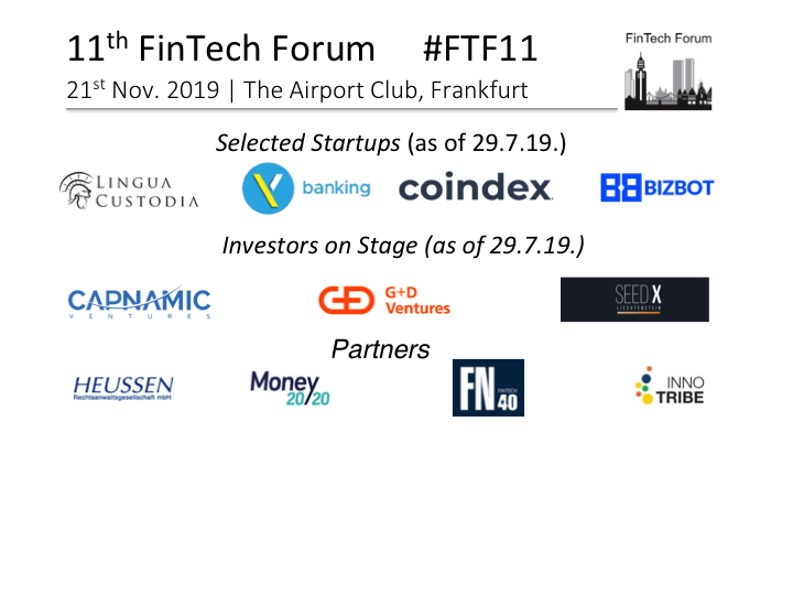 Blog | FinTech Forum | Since 2013 the leading European network for