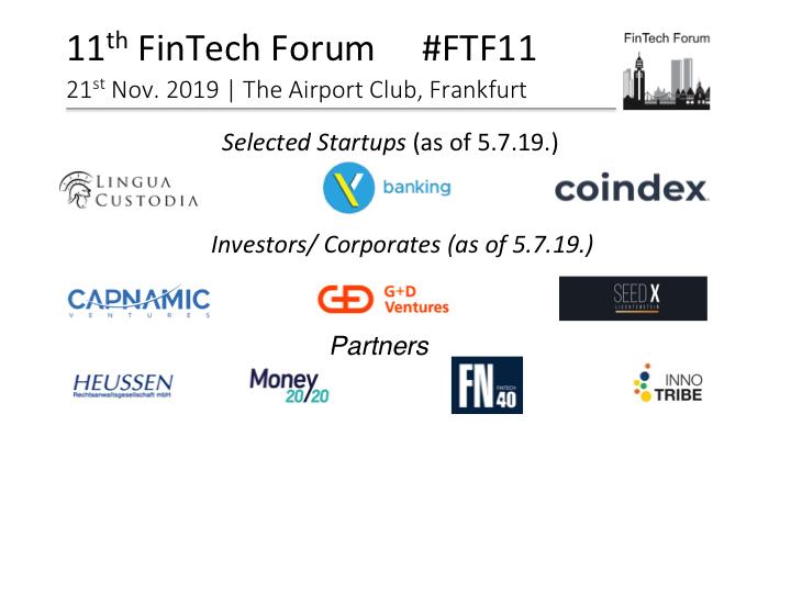 Blog | FinTech Forum | Since 2013 the leading European